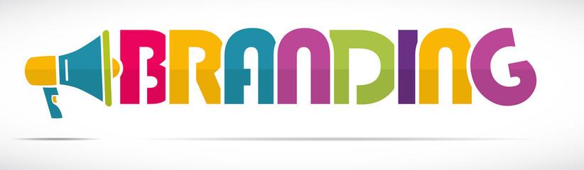 mégaphone mot : branding