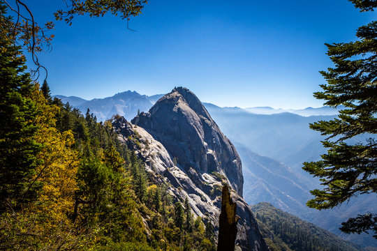 Moro Rock in Sequoia National Park, California