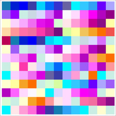 Pattern with colorful squares. Pixels