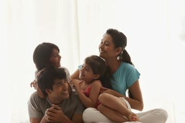 Family enjoying