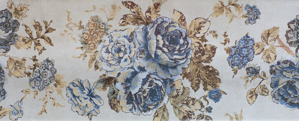 Wall Mural - Abstract flower pattern, ceramic tile