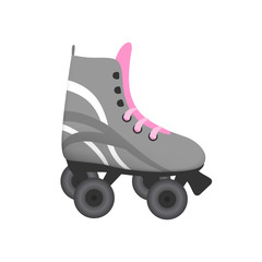 Quad roller skate vector isolated