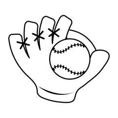baseball glove and ball icon image