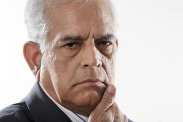 Portrait of a serious man