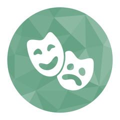 Polygon Icon Theatermasken