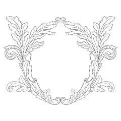 Baroque vector vintage elements
