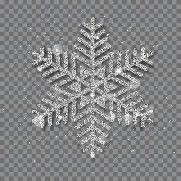 Big shiny Christmas snowflake