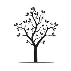 Black Tree. Vector Illustration.