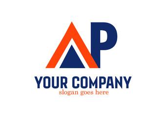 Letter AP Logo Design Vector