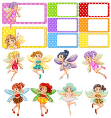 Fairies flying and frame design