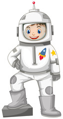 Happy boy in spacesuit