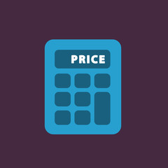Calculator single flat icon.