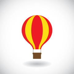 Hot air balloon icon. Vector illustration
