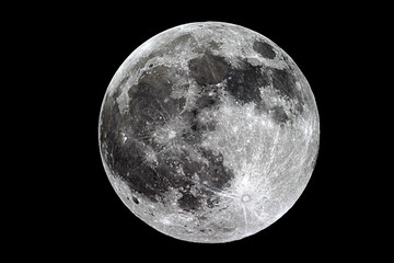 Moon background / The Moon is an astronomical body that orbits planet Earth, being Earth's only permanent natural satellite Wall mural