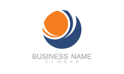 Round abstract business logo