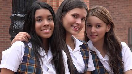 Diverse Pretty Teen Girls