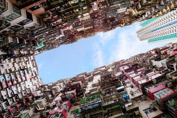 Foto op Aluminium Hong-Kong Crowded Housing in Hong Kong