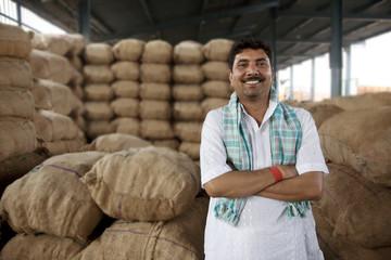 Portrait of a food merchant