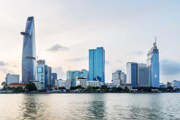 Ho Chi Minh City skyline and the Saigon River