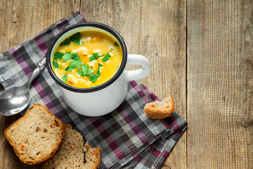 vegetable and legumes soup