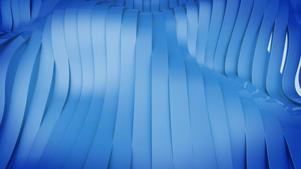 3D render of Wavy band surface.