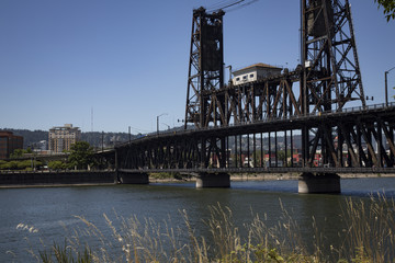 Bridge Over/Across A River,  - Willamette River, Portland, Oregon