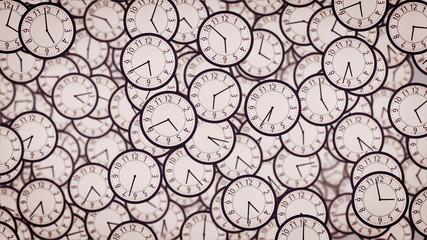 Clock faces. Business concept.