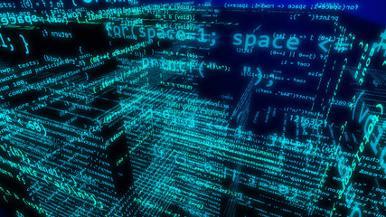 Cyberspace in 3d dimensions with numerous digits