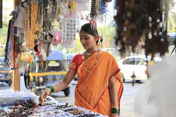 Maharashtrian woman shopping