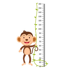 Meter wall with monkey illustration.