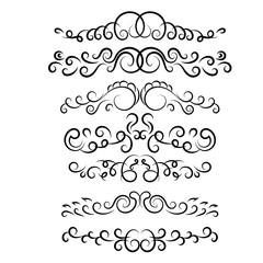 text vintage dividers set on white vector eps 10