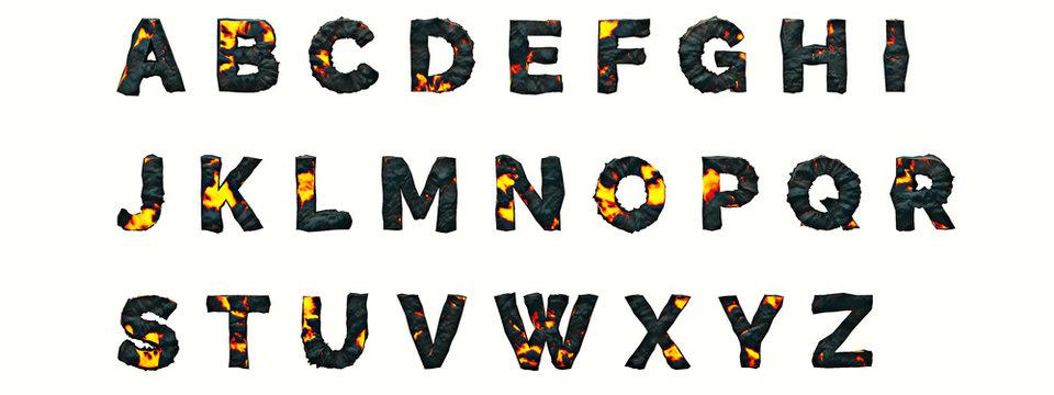 Alphabet Lava
