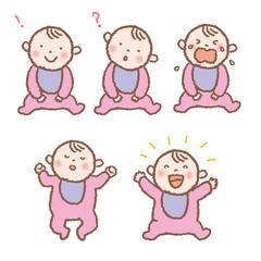 赤ちゃん 表情 パターン