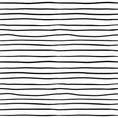 Seamless pattern with black stripes. Monochrome striped hand drawn background.