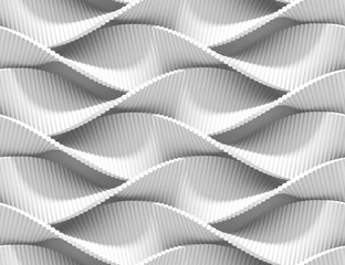 Abstract curved lines background. Paint ripples and bubbles. 3D rendering texture.