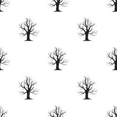 Old tree vector icon in black style for web