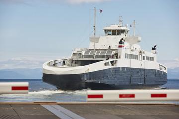 Norwegian cruise travel. Fjord landscape. Visit Norway. Tourism background.