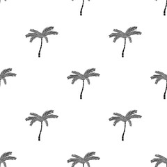 Mexican fan palm icon in black style isolated on white background. Mexico country symbol stock vector illustration.