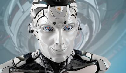 Robot face closeup