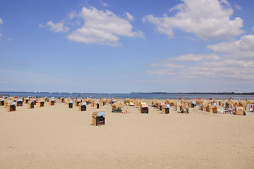 Ostsee, Strandkörbe, Strand, Travemünde