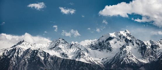 Snow mountain range in Ladakh, Jammu and Kashmir, India.