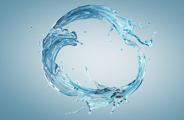 water splash in circle shape