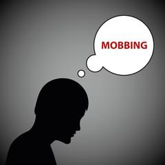 mann leidet unter mobbing
