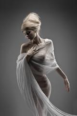 fashion beautiful glamour girl with creative stylized hair