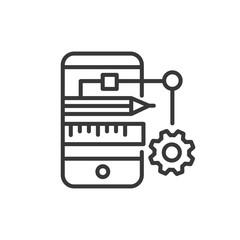 App Developing - modern vector line design icon.