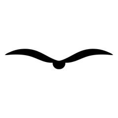 Bird black color icon .