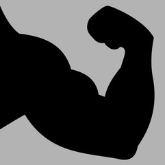 Strong hand biceps silhouette