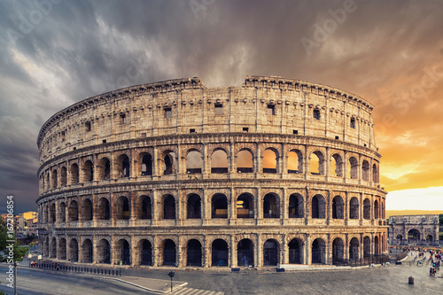 Wall mural The Colosseum or Flavian Amphitheatre (Amphitheatrum Flavium or Colosseo)