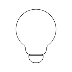 Bulb black color icon .