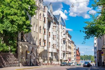 Street in Helsinki. Finland, EU
